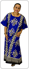 Beautifully flattering midi-maxi kaftan in Cotton Batik fabric